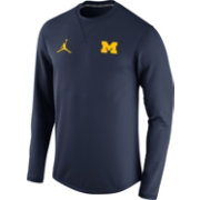 Jordan Men's Michigan Wolverines Blue Modern Crew
