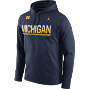 Jordan Men's Michigan Wolverines Blue Circuit PO Hoodie
