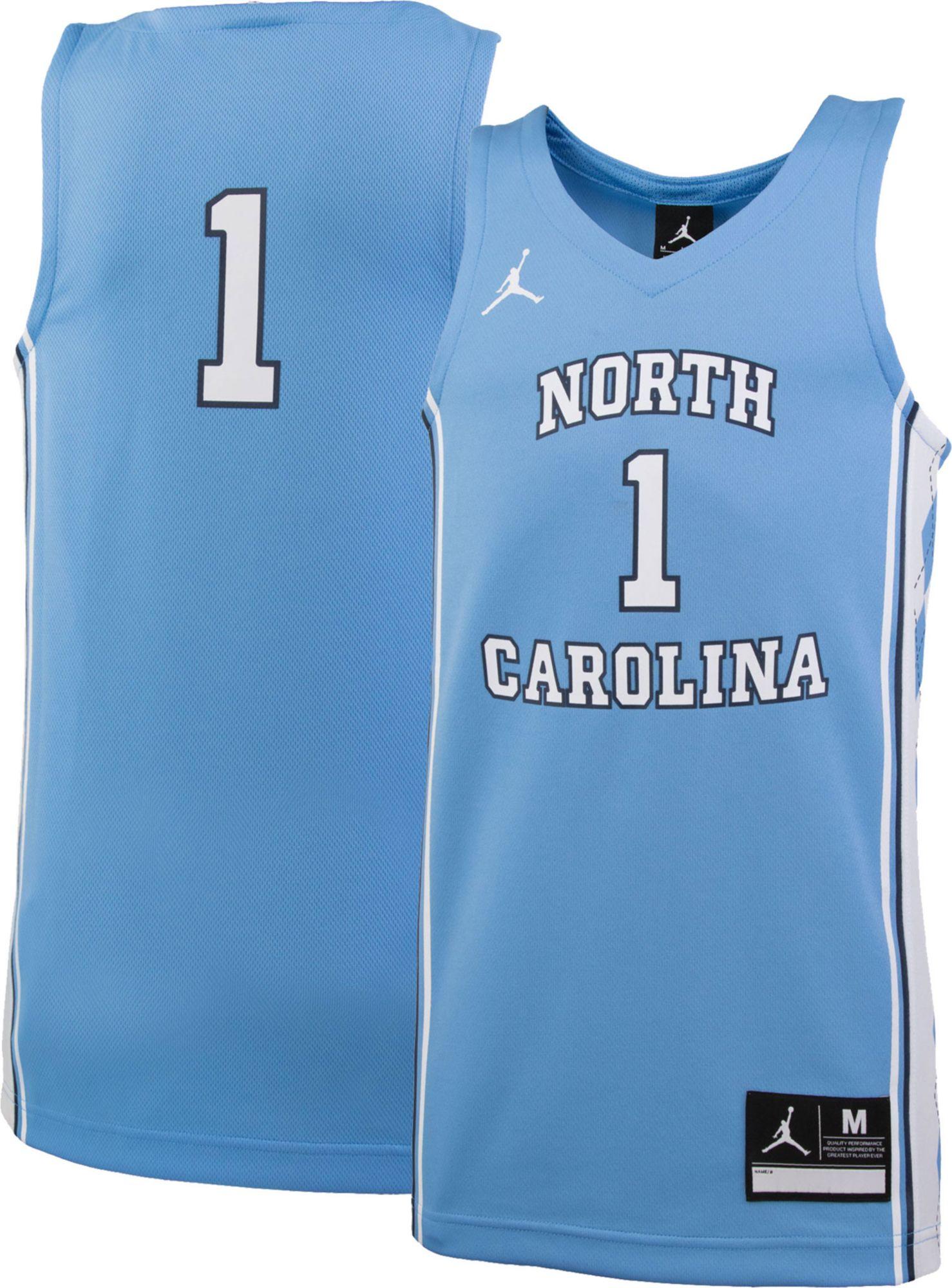 nike michael jordan north carolina tar heels brand jordan authentic  basketball jersey light blue  noimagefound 877612132