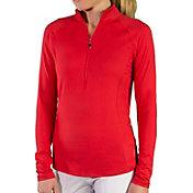 Jofit Women's Brushed Long Sleeve Golf Mock