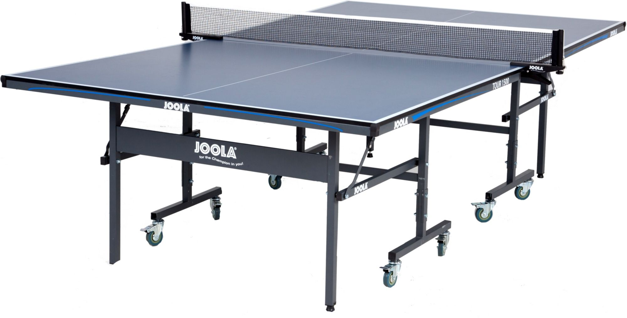 JOOLA Tour 1500 Indoor Table Tennis Table with Net Set (15mm Thick) | DICKu0027S Sporting Goods  sc 1 st  DICKu0027S Sporting Goods & JOOLA Tour 1500 Indoor Table Tennis Table with Net Set (15mm Thick ...