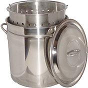 King Kooker 102 Quart Stainless Steel Boiling Pot with Steam Rim