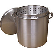 King Kooker 160 Quart Aluminum Pot with Basket and Lid