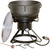 "King Kooker 17.5"" Jambalaya Propane Outdoor Cooker and 10 Gallon Pot"