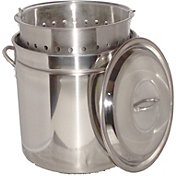 King Kooker 24 Quart Stainless Steel Boiling Pot with Steam Rim