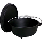 King Kooker 4 Quart Seasoned Cast Iron Dutch Oven with Feet