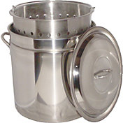 King Kooker 62 Quart Stainless Steel Boiling Pot with Steam Rim