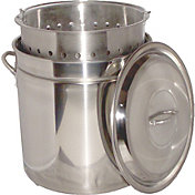 King Kooker 82 Quart Stainless Steel Boiling Pot with Steam Rim