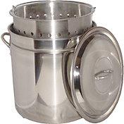 King Kooker 82 Quart Stainless Steel Boiling Pot with Steam Rim
