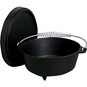 King Kooker 8 Quart Seasoned Cast Iron Dutch Oven with Feet