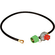 King Kooker High Pressure Adjustable Regulator and Listed Low Pressure Hose with Female Flare Swivel