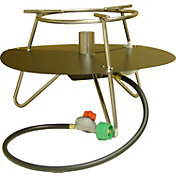 King Kooker Stainless Steel Jet Burner Outdoor Cooker Package with Round Bar Legs