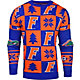 Klew Men's Florida Gators Blue Ugly Sweater