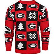Klew Men's Georgia Bulldogs Red Ugly Sweater