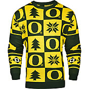 Klew Men's Oregon Ducks Green Ugly Sweater