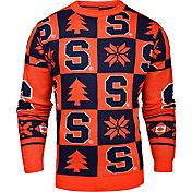 KLEW Men's Syracuse Orange Blue Ugly Sweater