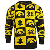 Klew Men's Iowa Hawkeyes Black Ugly Sweater