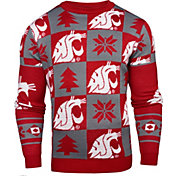 Klew Men's Washington State Cougars Crimson Ugly Sweater