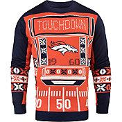 KLEW Men's Denver Broncos Light Up Ugly Sweater