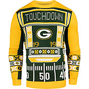 KLEW Men's Green Bay Packers Light Up Ugly Sweater