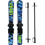 Lucky Bums Kids' Beginner Skis and Poles