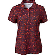 Lady Hagen Women's Monarch Collection Floral Print Golf Polo