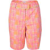 Lady Hagen Women's Islamorada Collection Patchwork Plaid Golf Bermuda Shorts