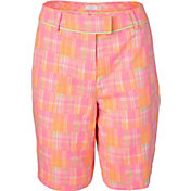 Lady Hagen Women's Islamorada Collection Patchwork Plaid Golf Bermuda Shorts