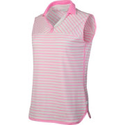 Lady Hagen Islamorada Collection Stripe Sleeveless Golf Polo