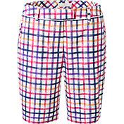 Lady Hagen Women's Sunset Collection Windowpane Bermuda Golf Shorts