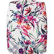 Lady Hagen Women's Sunset Collection Floral Windowpane Skort