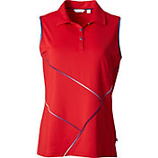 Lady Hagen Women's USA Piped Sleeveless Golf Polo