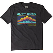 Life is Good Men's Happy Trails Mountain Cool T-Shirt
