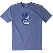 Life is Good Men's Peace Hand Crusher T-Shirt