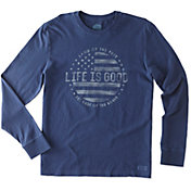 Life is Good Men's Land of the Free Crusher Long Sleeve T-Shirt
