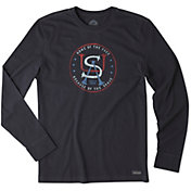 Life is Good Men's USA Home Crusher Long Sleeve T-Shirt
