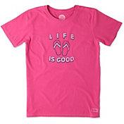 Life is Good Women's Flip Flops Crusher T-Shirt