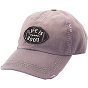 Life is Good Women's Tattered Football Sunwashed Chill Hat