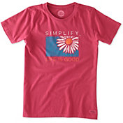 Life is Good Women's Simplify Daisy Crusher T-Shirt