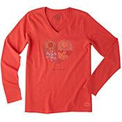 Life is Good Women's Four Seasons Crusher Vee Long Sleeve T-Shirt