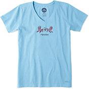 Life is Good Women's Two Adirondacks Crusher Vee T-Shirt