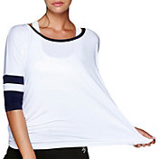 Lorna Jane Women's Retro Cropped Three Quarter Length Sleeve Shirt