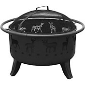 "Landmann Deer and Tracks 29.5"" Black Fire Pit"