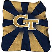 Georgia Tech Yellow Jackets Raschel Throw Blanket