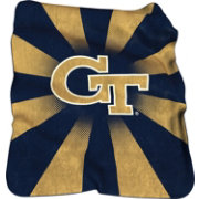 Georgia Tech Yellow Jackets Raschel Throw Blanket