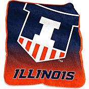 Illinois Fightining Illini Raschel Throw