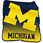 Michigan Wolverines Raschel Throw