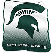 Michigan State Spartans Raschel Throw