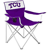 Logo TCU Horned Frogs Team-Colored Canvas Chair