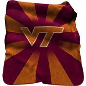 Virginia Tech Hokies Sherpa Throw Blanket